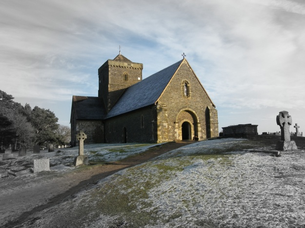St Martha's Chapel in winter