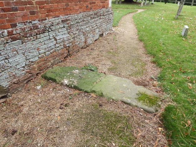 Wanborough recumbent stone viewed from north