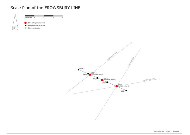 SCALE PLAN FROWSBURY LINE