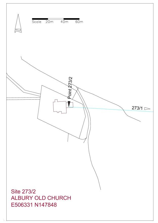 Site plan Albury Old Church