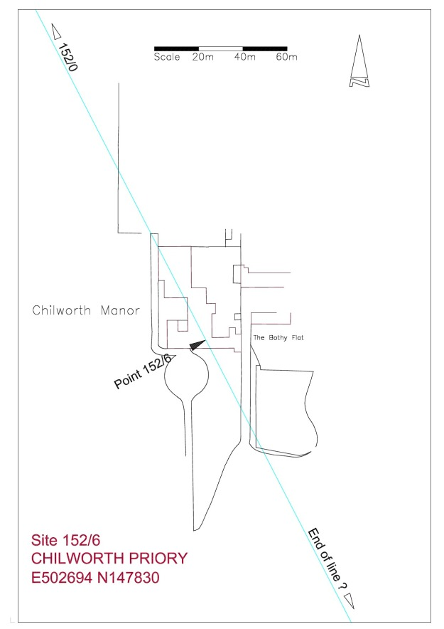 Site plan Chilworth Priory
