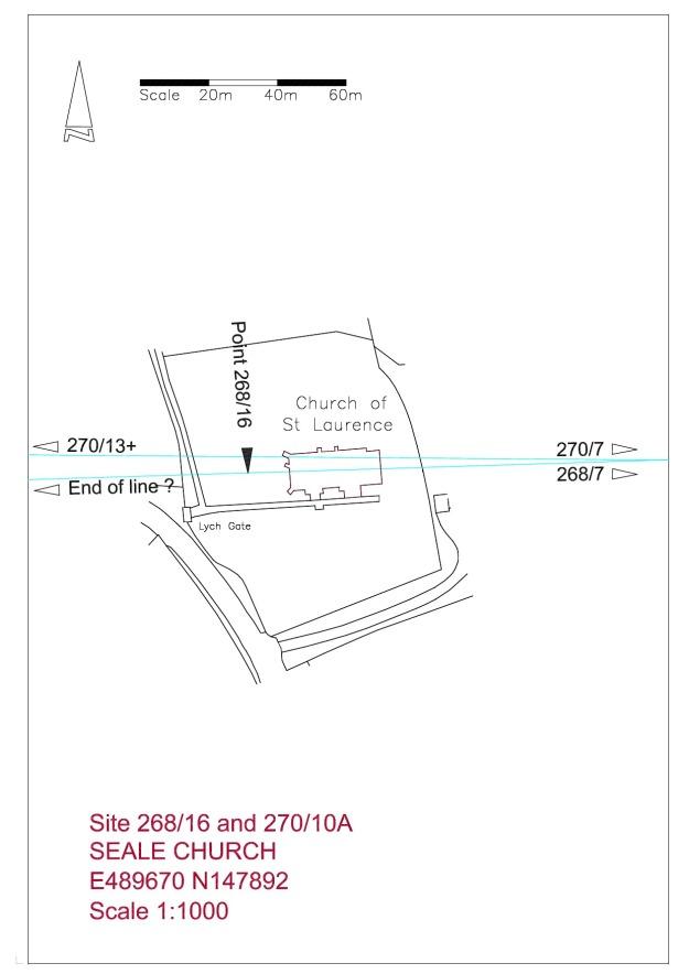 Site plan Seale Church