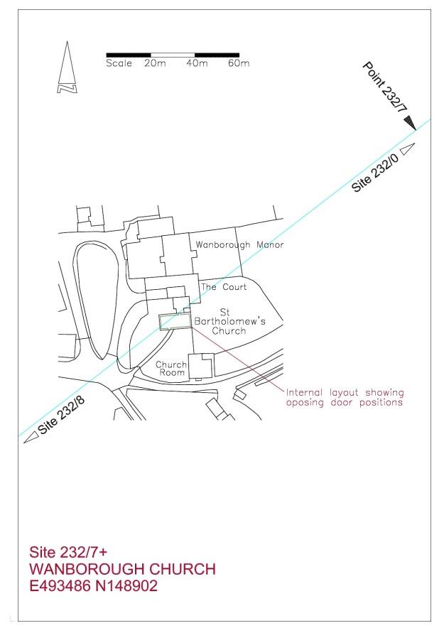 Site Plan Wanborough Church